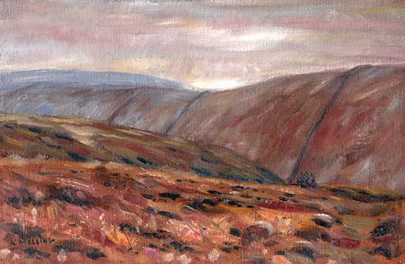 Ogden Clough from White Slacks, Barley, Lancashire. Painting: Keith Melling