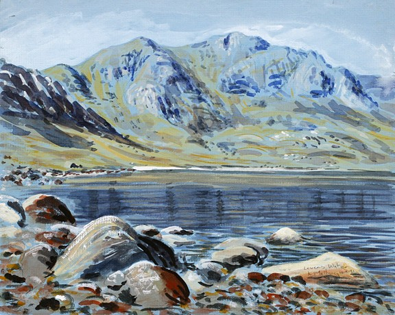 Levers Water, near Coniston, Lakeland. Painting by Keith Melling