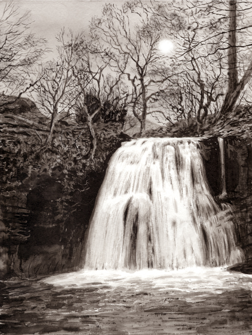 Janets Foss, Yorkshire Dales. Artist : Keith Melling