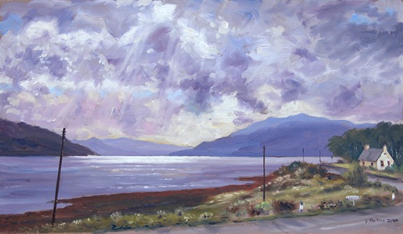 Loch Sunart, Scotland. Painting by Keith Melling