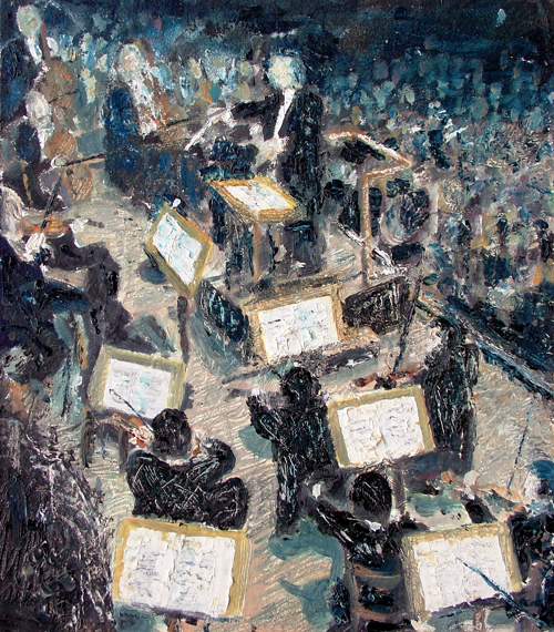 Orchestra. Painting Keith Melling
