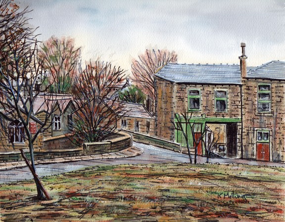 Cottontree, Trawden, Colne, Lancashire. Painting by Keith Melling