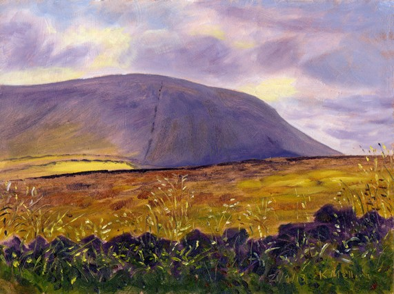 Pendle Hill from Colne Gate, Barley, Lancashire. Artist : Keith Melling