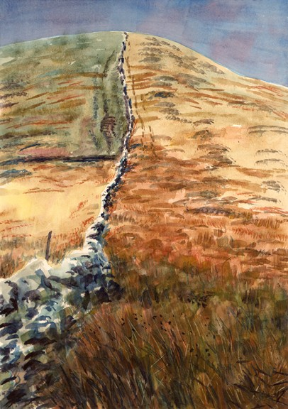 Big End, Pendle Hill, Lancashire. Painting: Keith Melling