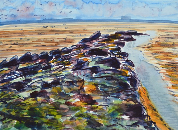 Humphrey Head Point II, Cumbria. Painting: Keith Melling