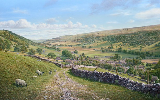 Srarbotton from the Walden Track, Yorkshire Dales. Artist: Keith Melling