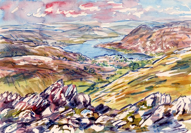 Ullswater from St Sunday Crag, Lakeland. Artist: Keith Melling