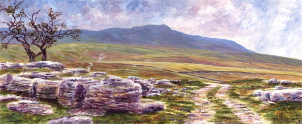 Whernside from Bruntscar, Chapel-le-Dale, Yorkshire Dales. Painting: keith Melling