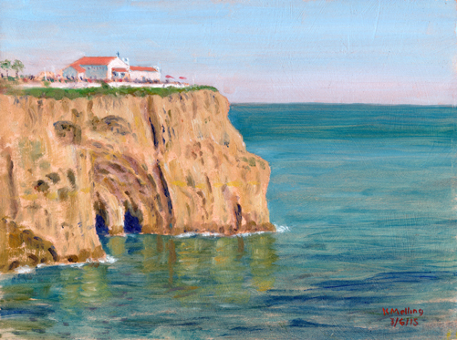 Cliffs at Carvoeiro, Algarve, Portugal. Artist : Keith Melling