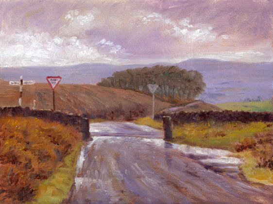 Four Lane Ends near Barley, Lancashire.  Artist : Keith Melling