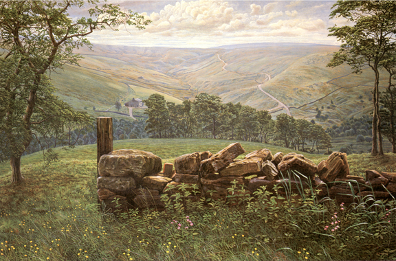 Thursden Valley, Lancashire. Painting: Keith Melling