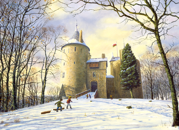 Castell Coch, Wales II. Painting Keith Melling