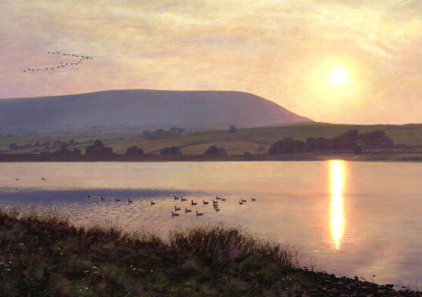 Before Sunset, Black Moss & Pendle Hill. Artist Keith Melling