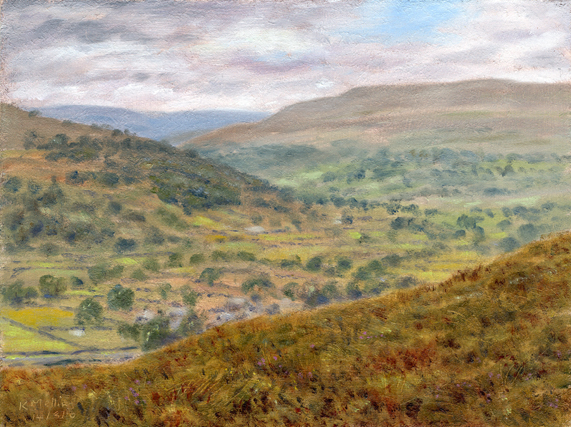 Above Buckden, Wharfedale. Artist Keith Melling