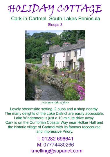 Holiday Cottage, Cark in Cartmel