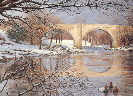 Devil's Bridge, Kirkby Lonsdale. Oil painting Keith Melling