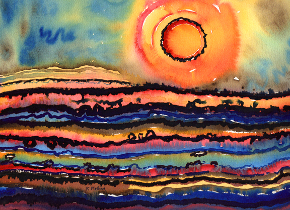 Sun and Strata. Artist Keith Melling