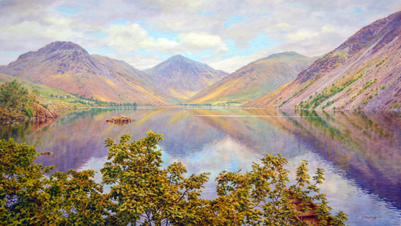 Wastwater. Painting by Keith Melling