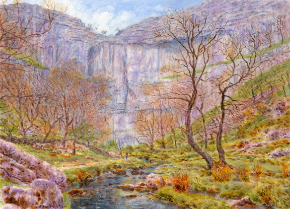 Malham Cove, Yorkshire Dales. Painting by Keith Melling