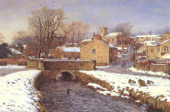 Downham in December. Artist: Keith Melling