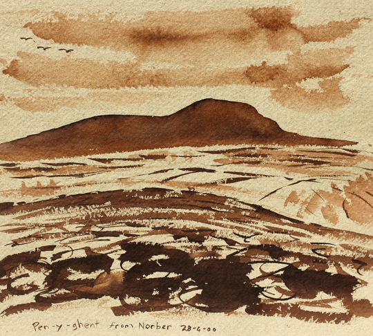 Pen-y-ghent from Norber 2000. Artist - Keith Melling