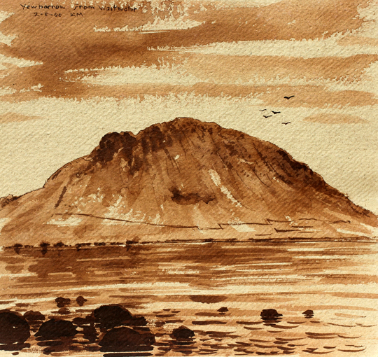 Yewbarrow from Wastwater. Artist Keith Melling