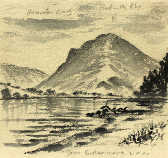 Fleetwith Pike, Buttermere, Lakeland. Drawing by Keith Melling
