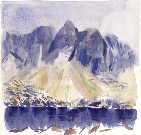 Dow Crag and Goat's Water. Artist: Keith Melling