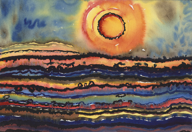 Strata and Sun. Artist : Keith Melling