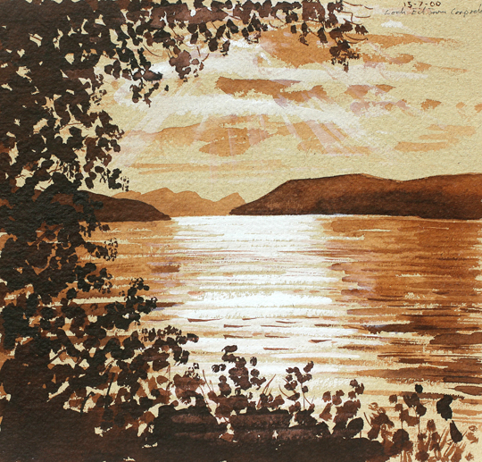Loch Eil from Corpach, Scotland. Artist: Keith Melling