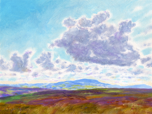 Pendle from Weets Hill. Painting:Keith Melling