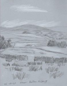 Near Bolton Abbey, Yorkshire Dales. Sketch: Keith Melling