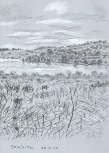 Stocks Reservoir, Lancashire. Sketch: Keith Melling