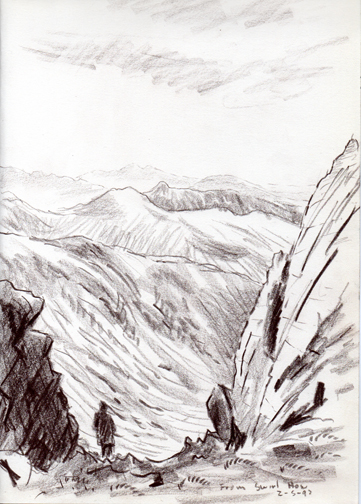 On Swirl How, Lake District. Drawing - Keith Melling