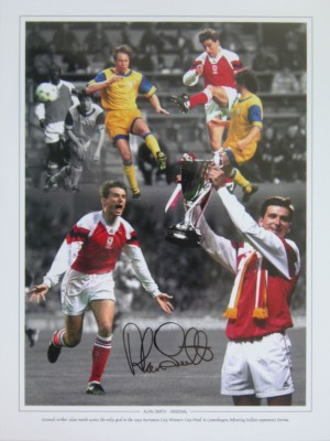 Alan Smith 1994 Cup Winners Cup Signed Montage