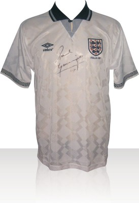 Paul Gazza Gascoigne Signed Italia 90 England World Cup Shirt