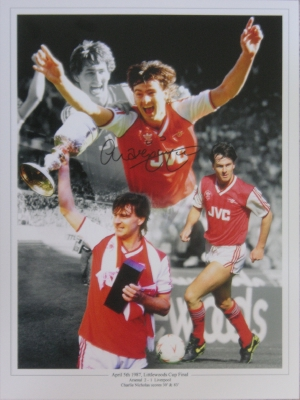 Charlie Nicholas Arsenal Signed 1987 League Cup Montage