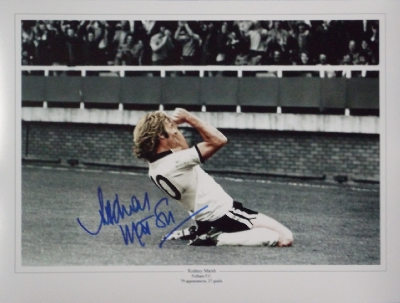 Rodney Marsh Fulham Legend Signed Photograph