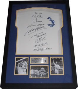 Leeds United 1972 FA Cup Winners Shirt Signed x 10 - Stylishly Framed