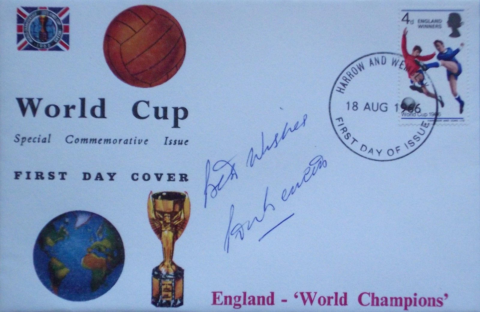 COA Martin Peters /'1966 World Cup Winner/' signed