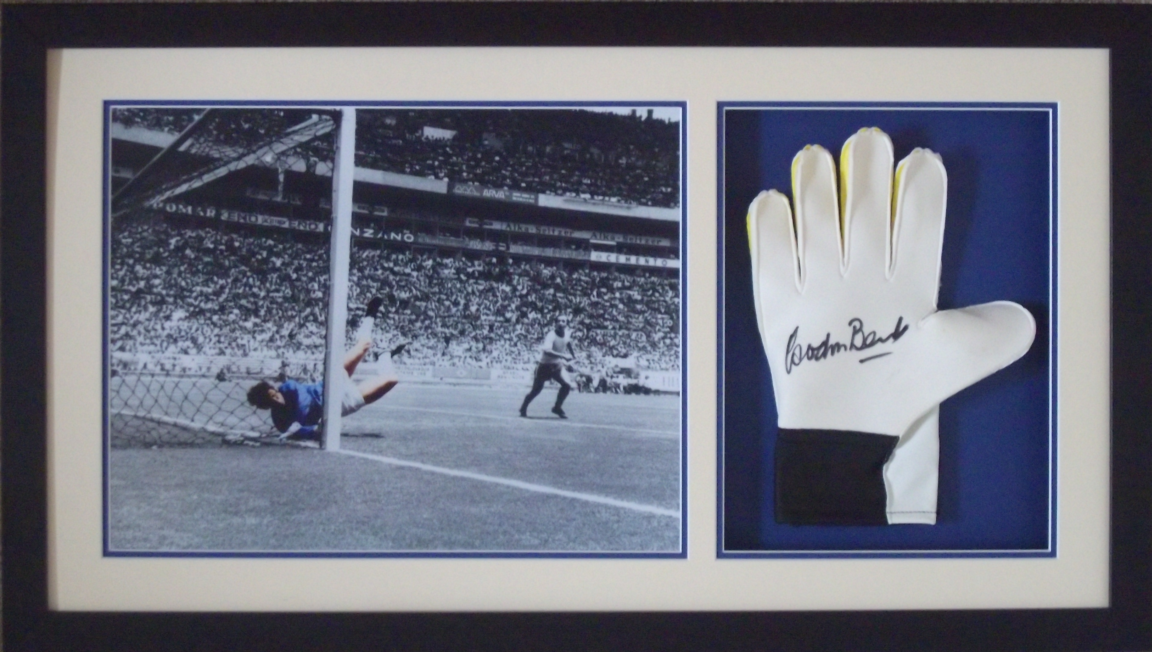 Gordon Banks Greatest Ever Save Signed Goalkeepers Glove Display
