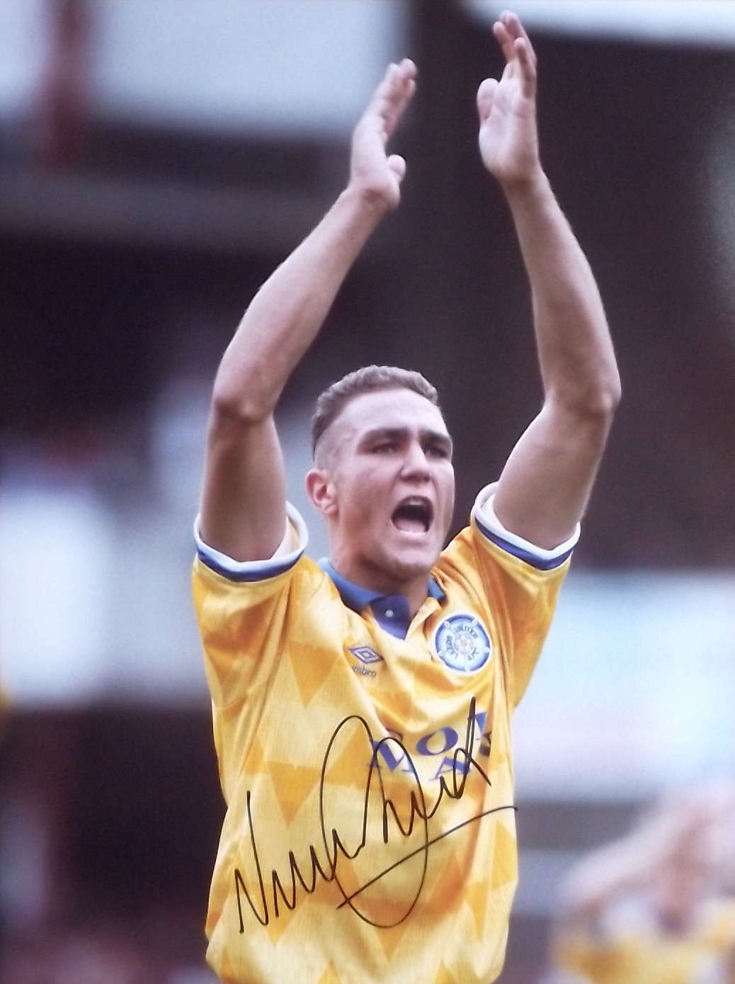 Vinnie Jones Signed Leeds United Elland Road Legend #3