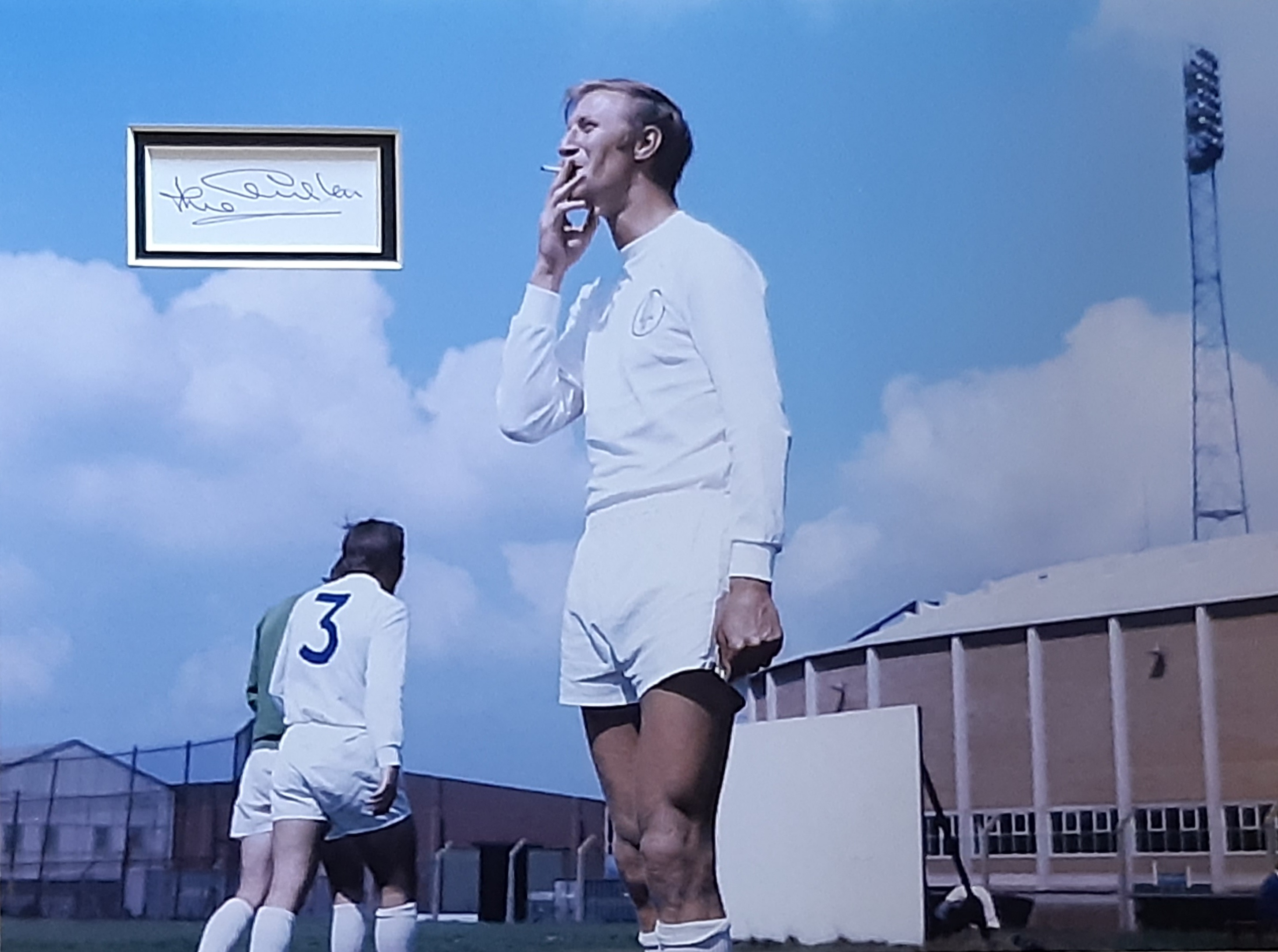 Jack Charlton Signed Leeds United Mounted Card & Photo