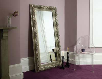 Antwerp Silver Leaner Mirror 70x37in Now £239