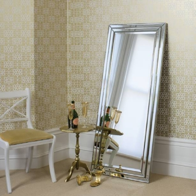 Chamberry leaner mirror pewter 61x27in SALE £179