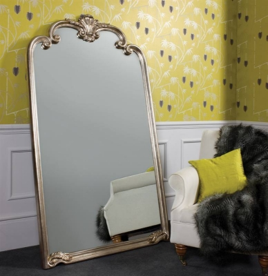 Palazzo leaner mirror silver 41x73in SALE £379