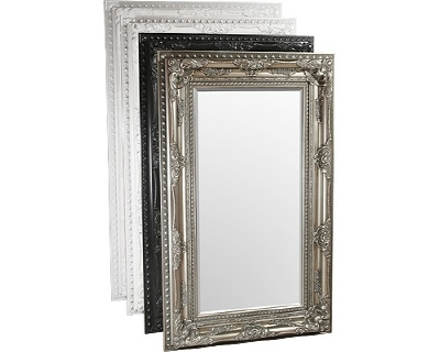 FMC642 Edward mirror 156x96cm available in black, silver, white + white/silver £189