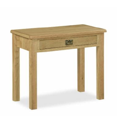 Erne lite oak laptop computer desk with drawer