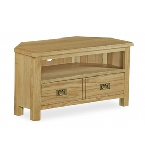 Erne Lite Oak corner TV unit