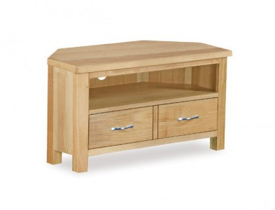 Tuscan Oak corner TV unit
